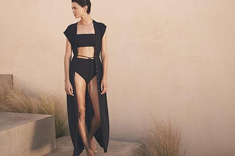 swimsuit tops black crop top eres azur