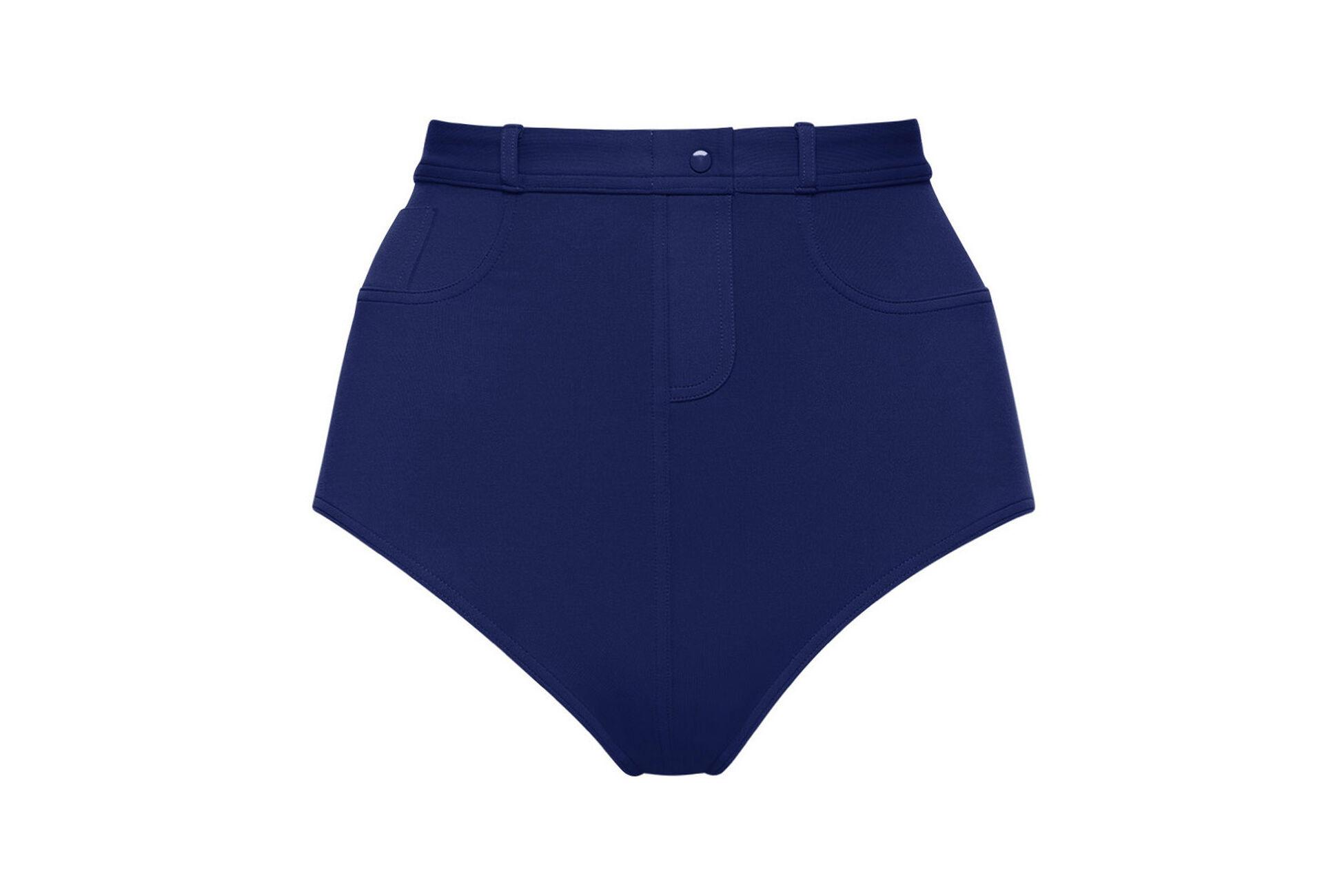 Stonewash High-waisted bikini briefs standard view �