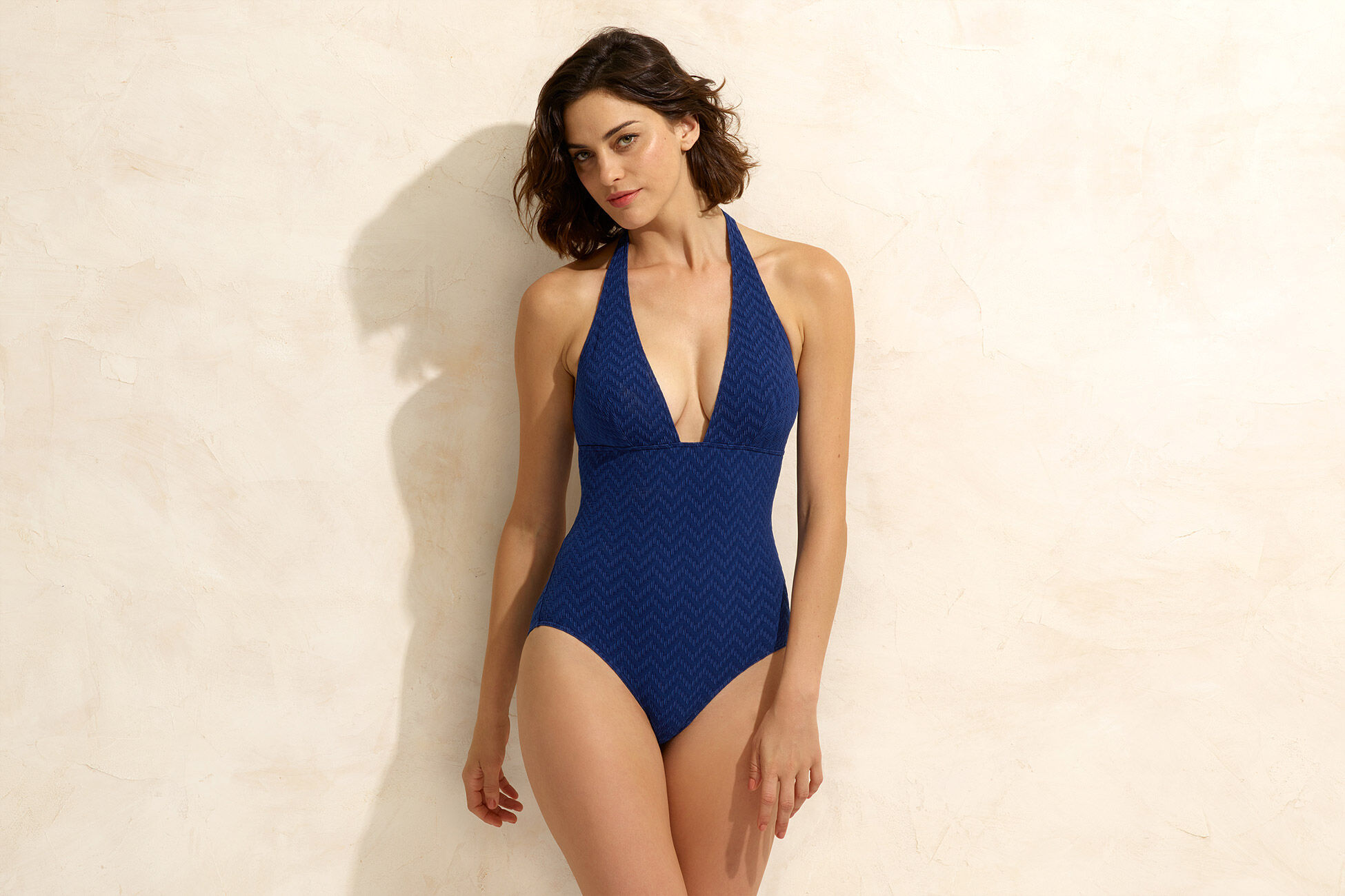 Gabardine Triangle one-piece standard view �