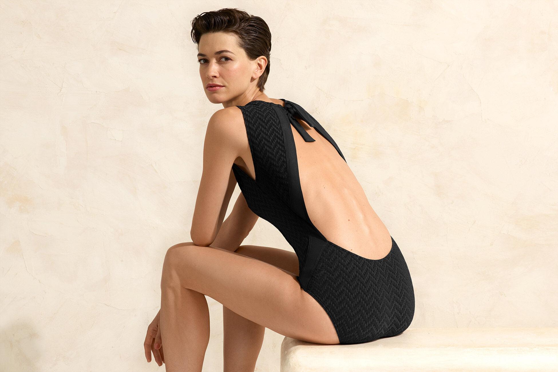 Flanelle Raffinierter Badeanzug Standardansicht �