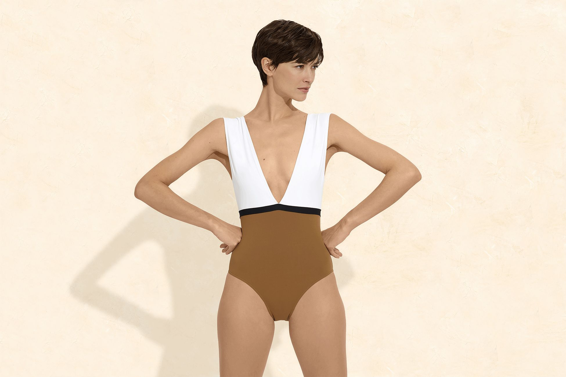 Ambera Panama Sophisticated one-piece standard view 1