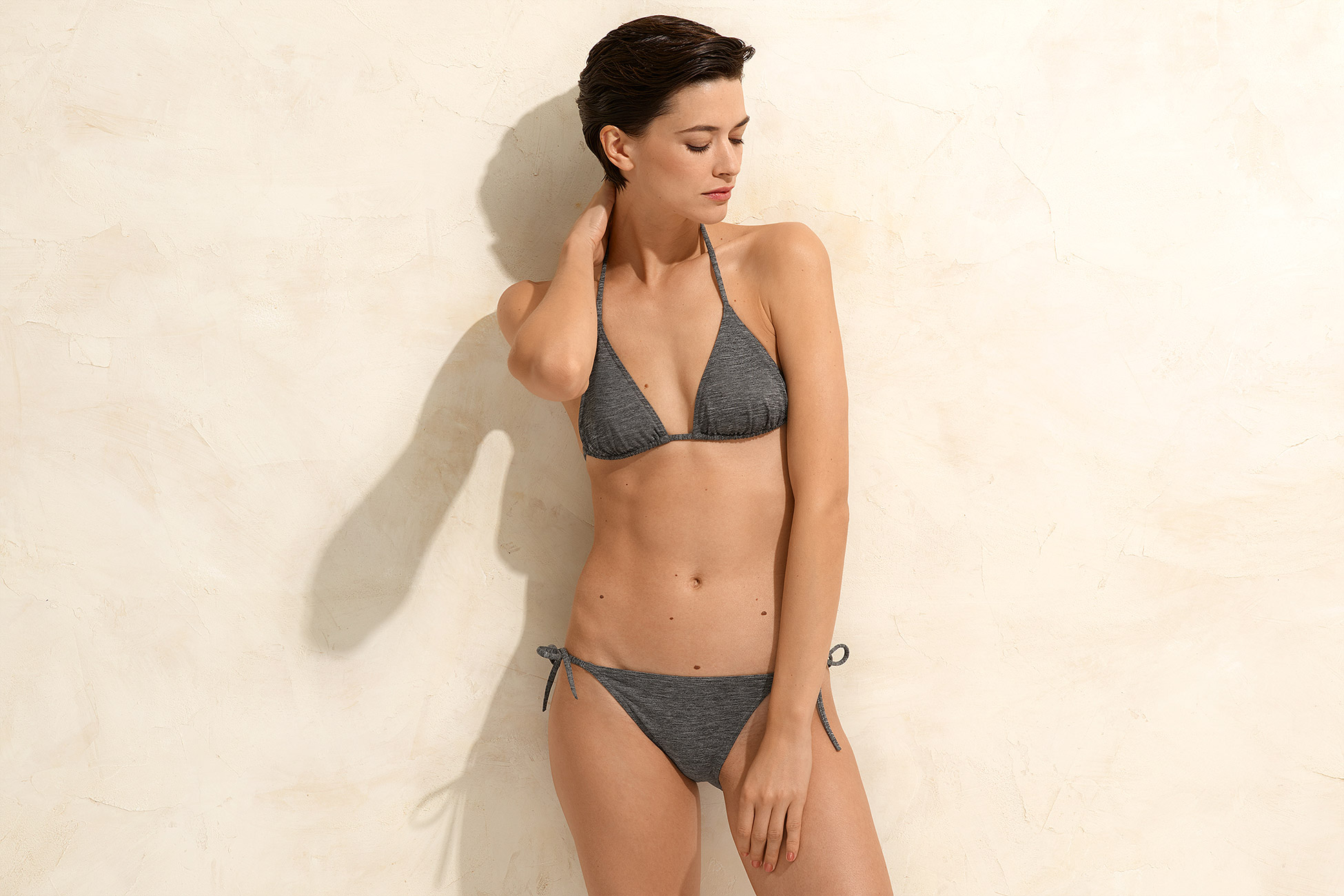 Mouna Small triangle bikini top standard view 2
